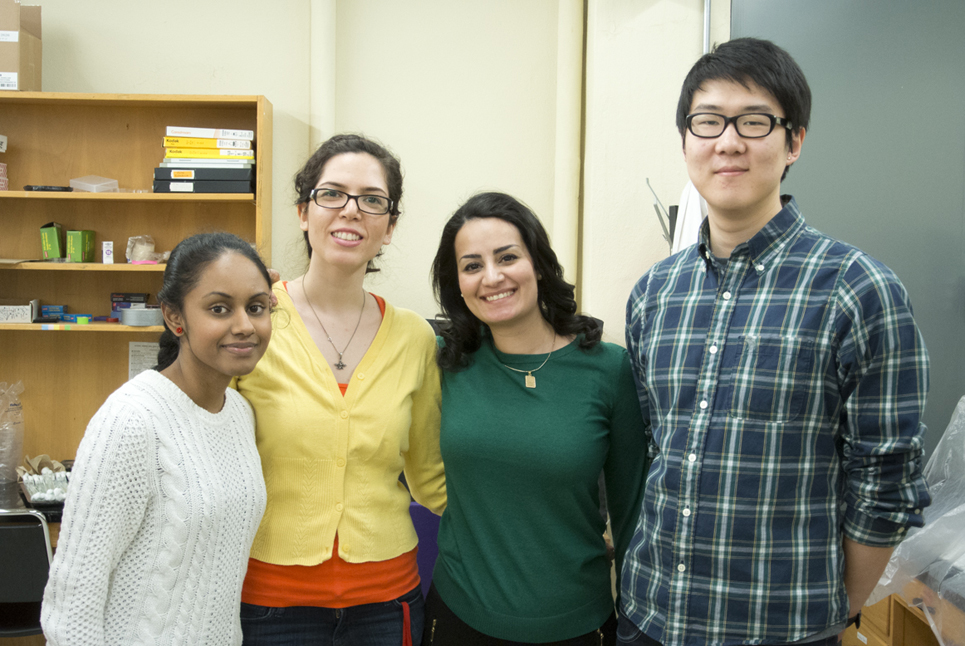 photo of Winter 2013 lab personnel